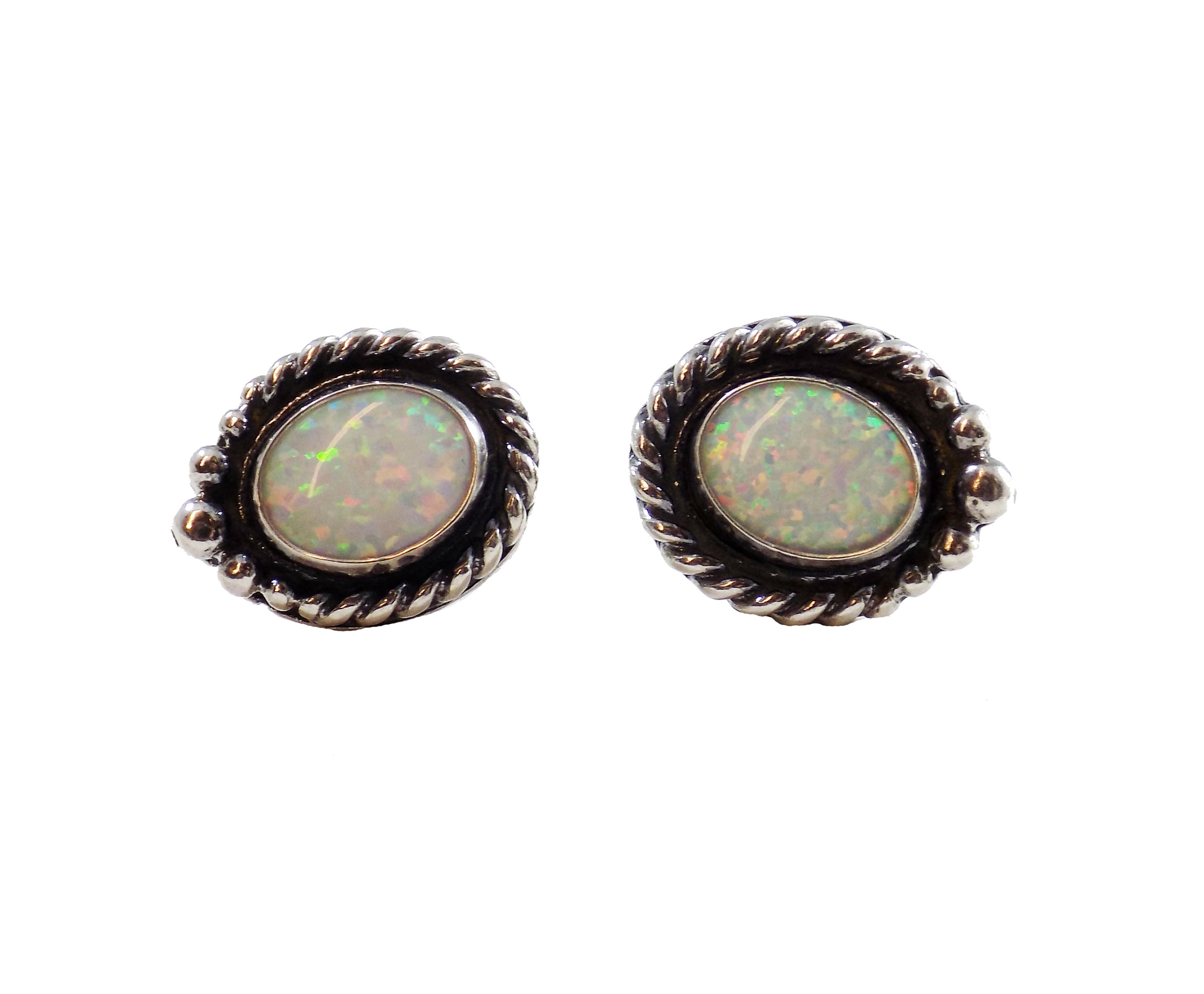 rings bodycandy bone stainless nose gauge stud blue synthetic steel opal collections