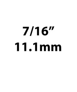 "11.1mm / 7/16"""