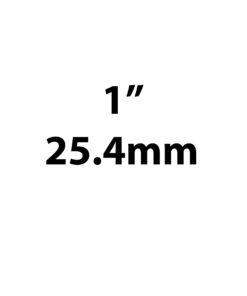 "25.4mm / 1"""