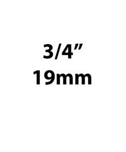 "19mm / 3/4"""